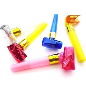 20-x-Party-Blowers-MIXED-COLOURS-Christmas-Birthday-Blowouts-Noise-Loot-Bag-Toys