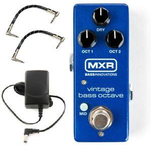 MXR-VINTAGE-BASS-OCTAVE-MINI-BASS-GUITAR-PEDAL-M280-amp-ADAPTER-2-FENDER-PATCH