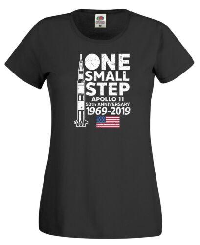 Moon Landing T Shirt Nasa Apollo 11 50th Anniversary 1969-2019 Gift Women Top