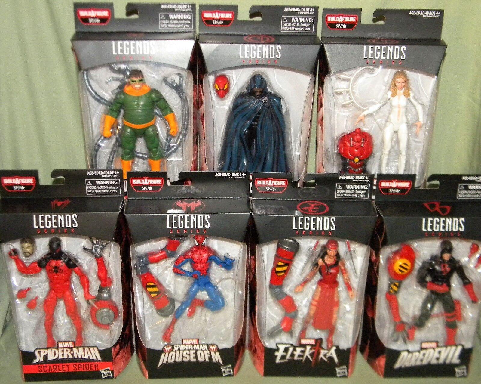 Marvel Legends SPIDER-MAN SET OF 7 Cloak Dagger Daredevil Doc Ock Scarlet SP  dr