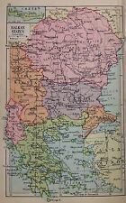 Balkans - Austria Yugoslavia Hungary Double Sided  Antique Map c1932 Original