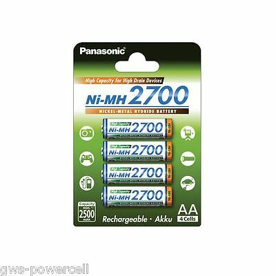 Panasonic eneloop pro 4er Blister AA Akkus 2500 mAh Ready to use BK-3HCDE//4BE