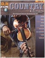 Violin Play Along Sheet Music Country Classics Bob Wills Hank Williams Alabama