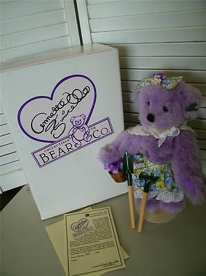 Brilliant Kallie Purple Garden Annette Funicello Bear In Box 8092 Modern Techniques Annette Funicello