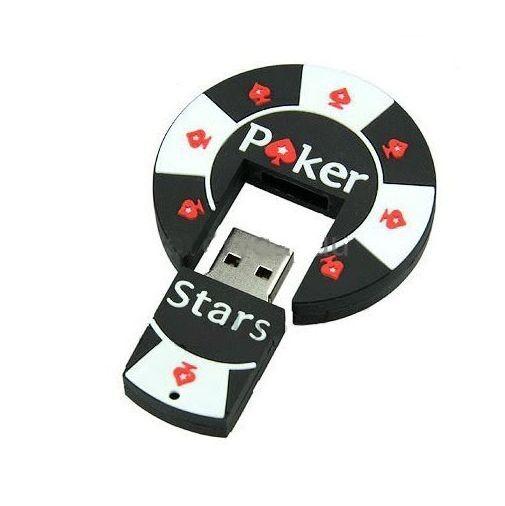 XMAS Gift 8GB 16GB 32GB POKER STARS Round USB2.0 Flash Drive Pen U Stick Memory