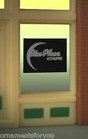 Blue Moon Cafe Animated Neon Window Sign 8960 O Scale