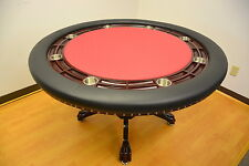 MRC Poker Table THE MYSTIC Round Table Mahogany Color