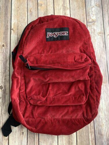 Jansport Red Corduroy Backpack Vintage Regular siz