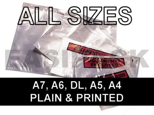 A5 DL A6 A4 size MULTI LISTING Document Enclosed Envelopes Wallets A7