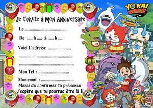 Carte Anniversaire Yokai.Details Sur 5 Cartes Invitations Anniversaire Yokai Watch 07