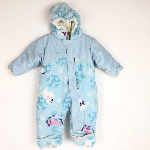 e4a2f5b4dfd8 Cuddle Bear Infant Girls Pink Hooded Fleece Snowsuit Outerwear...Sz ...
