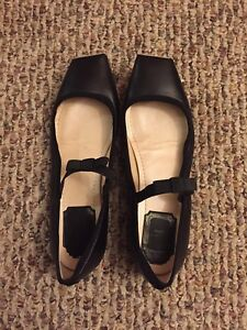 9136f1ec7 Image is loading Rare-Beautiful-Christian-Dior-Black-Leather-Ballet-Flat-