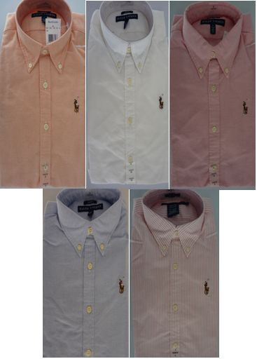 NEW  POLO RALPH LAUREN damen SLIM-FIT OXFORD BUTTON DOWN SHIRT Größe 4 10 12 Sale