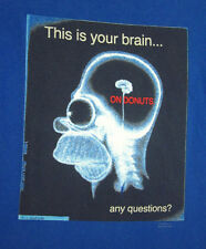 SIMPSONS cartoon Your Brain on Donuts med T shirt 2001 Homer X-Ray tee FOX