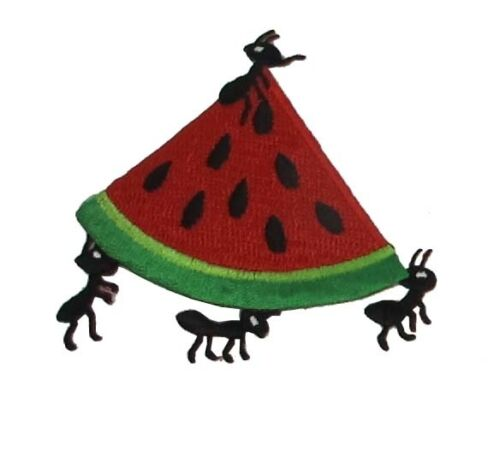 Watermelon,Banana,Hot Dog,Cookie,Cup Cake Ant Embroidery Iron On Applique Patch