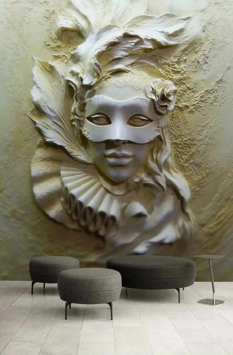 3D Lady Sculpture 44 Wall Paper Exclusive MXY Wallpaper Mural Decal Indoor AJ