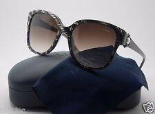 Lanvin SLN 597S COL 0WTN Sunglasses Black Silver Stripes 56mm SLN597 WTN