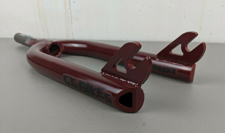 rojo GT 20   Bmx Horquilla 4130 Cr-Mo tubo de dirección 1 1 8 Threadless 3 8 Dropout Cromado  Garantía 100% de ajuste