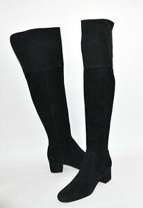 ee14e3c3bff7c New! Sam Edelman  Elina  Over the Knee Boot Black Suede Size 7.5 ...