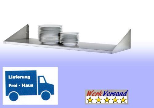 100x30 cm Tellerbord,Wandregal,Regal Ablage Edelstahl für Küchen Gastronomie