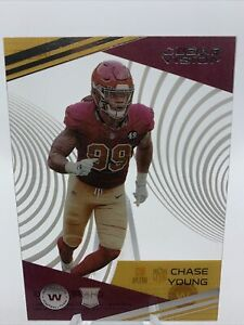 2020 Panini Clear Vision Chase Young RC Rookie Acetate Card Washington