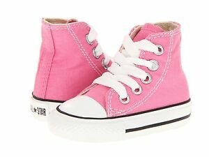 Details about Toddler Girls Converse Chuck Taylor All Star Pink 100% Original 7J234 Brand New