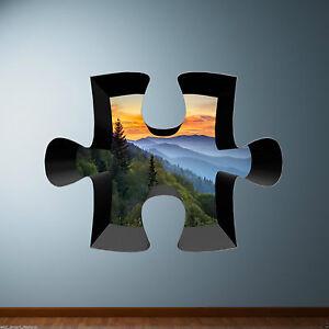 3D-Sega-a-traforo-colore-Mountain-foresta-PARETE-ARTE