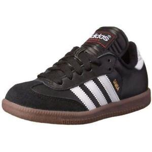 38b7da6a7 Adidas Samba Classic Junior Black White Boy s Kids  Soccer Shoes ...
