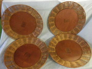 Tremendous Details About Pier 1 Imports Chargers Wood Wicker Natural Solid Brown Serving Trays Lot Of 4 Machost Co Dining Chair Design Ideas Machostcouk