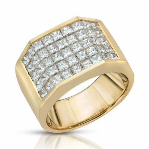 Details about  /14k Yellow Gold Plated Men/'s 1.25 ct Princess Sim Diamond Ring in 925 Silver