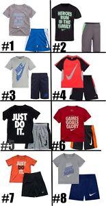 New-Nike-Little-Boys-Dri-FIT-Shirt-amp-Shorts-Set-Choose-Size-amp-Color-MSRP-36-00
