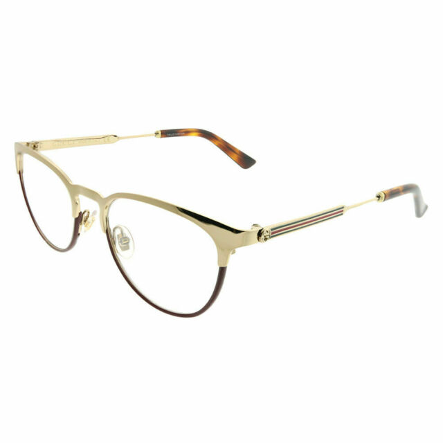 f4d239fe071 Gucci Sensual Romantic GG 0134o Eyeglasses 004 Gold for sale online ...