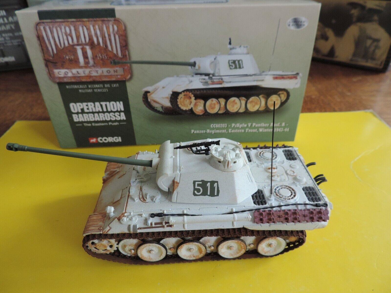 CORGI TOYS char tank PZKPFW V PANTHER Panzer militaire  military army CC60203  à vendre en ligne