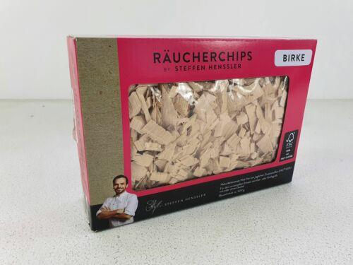 Birke NEU Räucherchips BY STEFFEN HENSSLER 500g Pack UVP