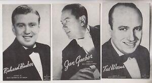 3-VINTAGE-MUTOSCOPE-POSTCARDS-RICHARD-HIMBER-JAN-GARBER-TED-WEEMS