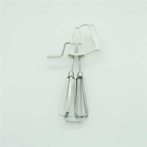 Rotary Manual Hand Whisk Egg Beater Mixer   Stainless Steel Kitchen SP