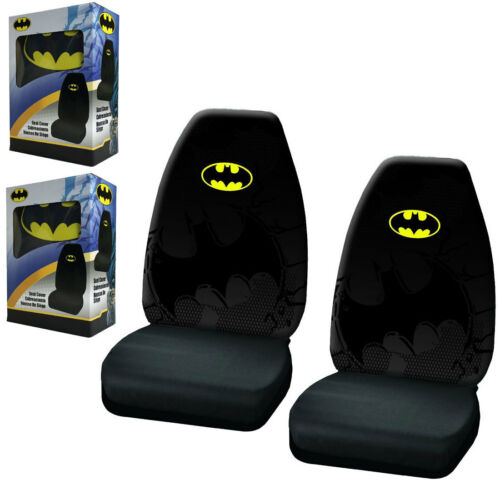 New Batman Dark Knight Shattered Logo High Back Bucket Front Pair Car Seat Cover