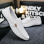 Plus-Size-Men-039-s-Flat-Slip-on-Leather-Loafers-Casual-Lazy-Driving-Moccasins-Shoes thumbnail 4