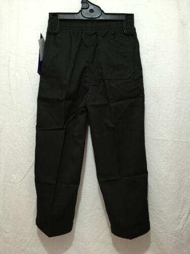 BNWT Boys Sz 16Y LW Reid Brand Black Double Knee Elastic Waist School Pants