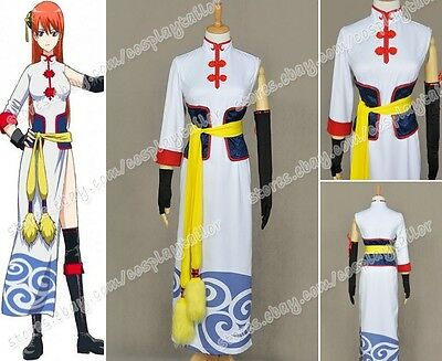 Gintama Silver Soul Cosplay Kagura Costume Anime Halloween Cool Dress Movie Ver