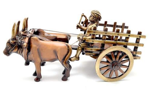 Details about  /Brass Vintage Bullock Cart Brass Statue Home Decor Sculpture
