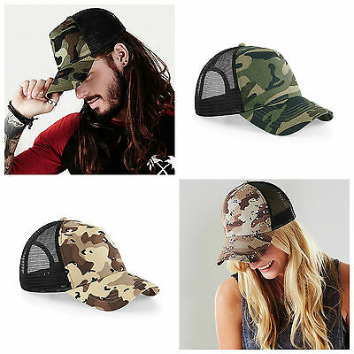 Camouflage Baseball Cap Military Army Camo Hat Trucker Snapback Mens Womens