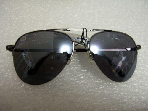 CLASSIC AVIATOR SUNGLASSES BLACK COLOR TINTED LENS METAL FRAME W//SPRING HINGES