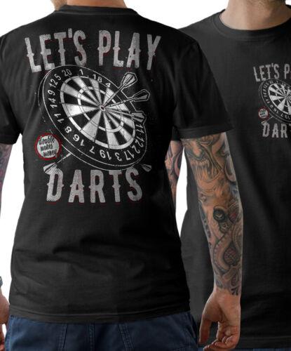 T-Shirt Funshirt Let´s play DARTS Dartpfeile WM Dart Trikot 180 Herren S-5XL