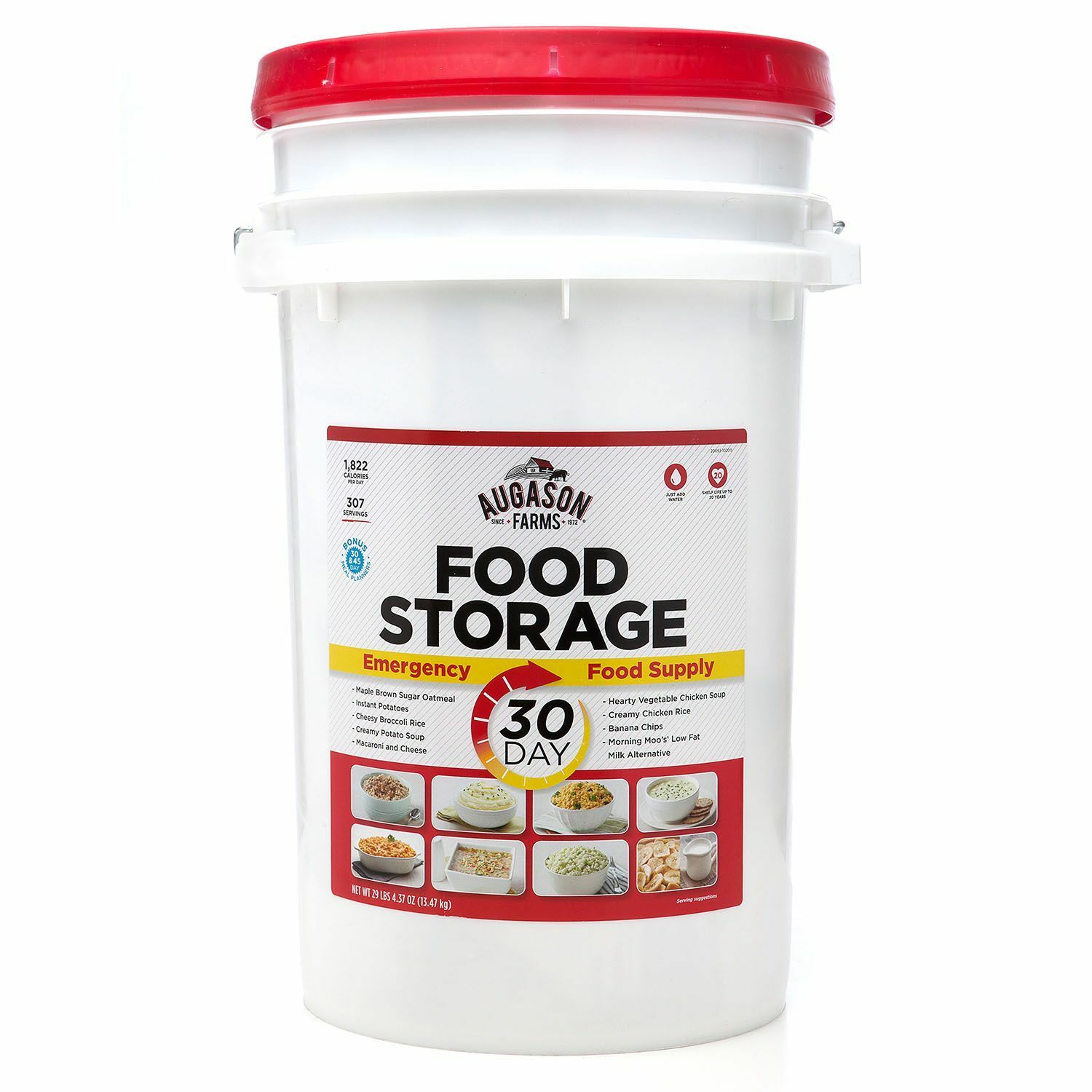 Augason Farms Emergency Food Supply 30-Day Pail – 1 Person
