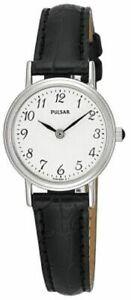 Pulsar-Femmes-Acier-Inoxydable-Cuir-Bracelet-Montre-PTA195X1-Pnp