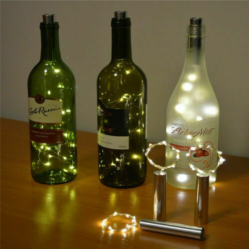 2M 20LED Wine Bottle Fairy String Lights LED Battery Cork Shape For Summer Party