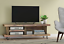 Solid-Wood-Rustic-Handmade-Pine-Blissford-TV-Unit-Stand-Finished-in-Chunky-Oak thumbnail 2
