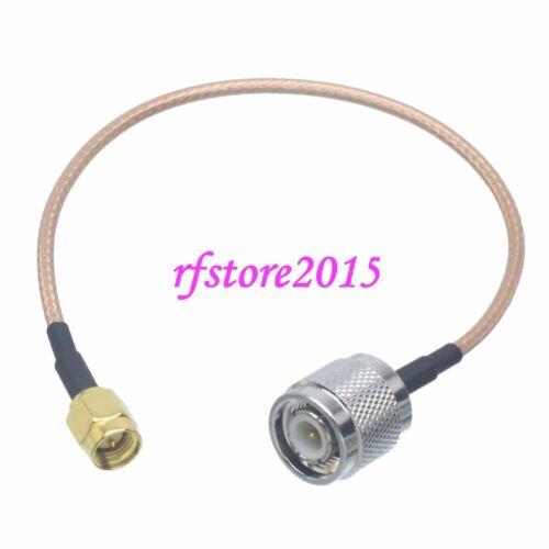 Cable RG316 SMA male plug to TNC male plug straight RF Pigtail Jumper