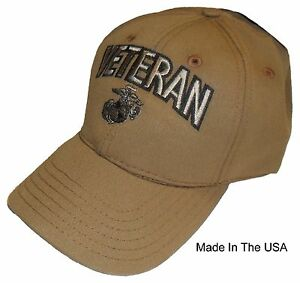 Details about US MARINE CORPS VETERAN USA MADE Licensed EGA CYB Military  Hat Baseball Cap